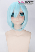 Short Wavy Ice Blue Basic Cap Wig