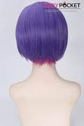 Short Wavy Purple to Pink Basic Cap Wig