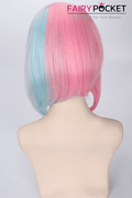 Short Wavy Rainbow Basic Cap Wig