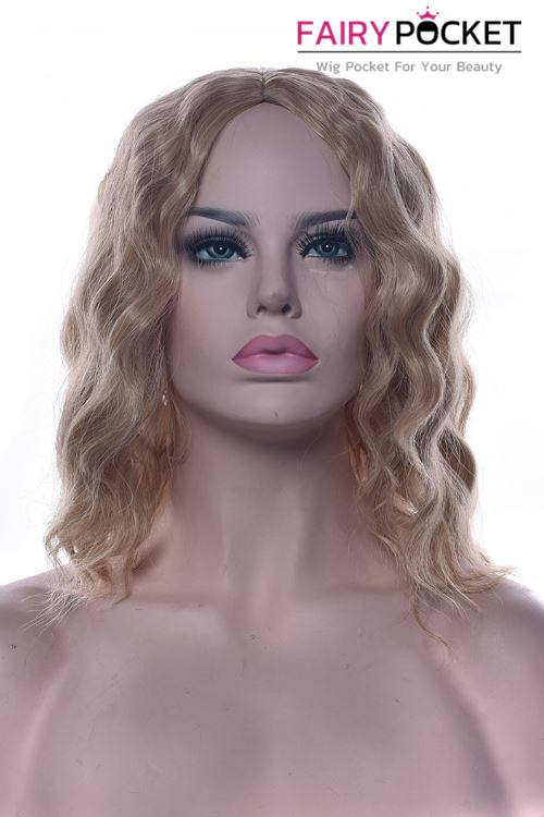 Short Wavy Sable Brown Basic Cap Wig - B