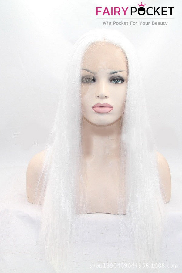 Snow White Long Straight Lace Front Wig