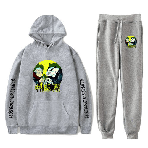 Sorcery Fight (Jujutsu Kaisen) Hoodie and Trousers Suits - L