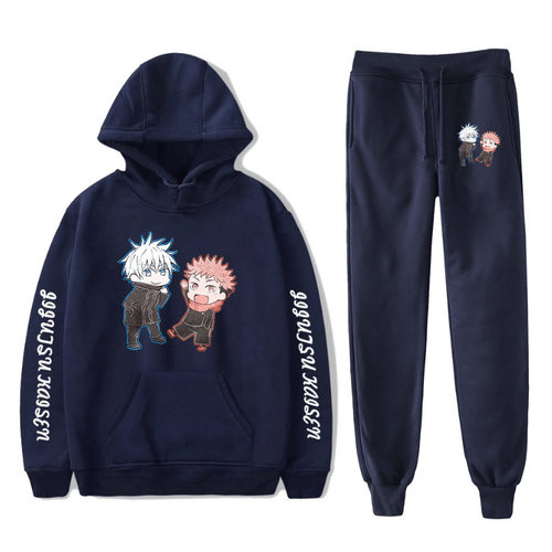 Sorcery Fight (Jujutsu Kaisen) Hoodie and Trousers Suits - N