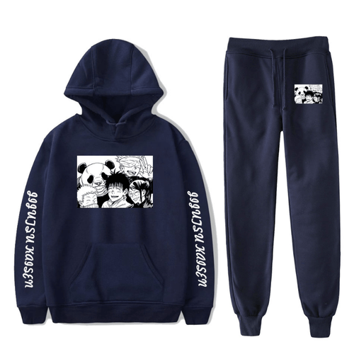 Sorcery Fight (Jujutsu Kaisen) Hoodie and Trousers Suits - O