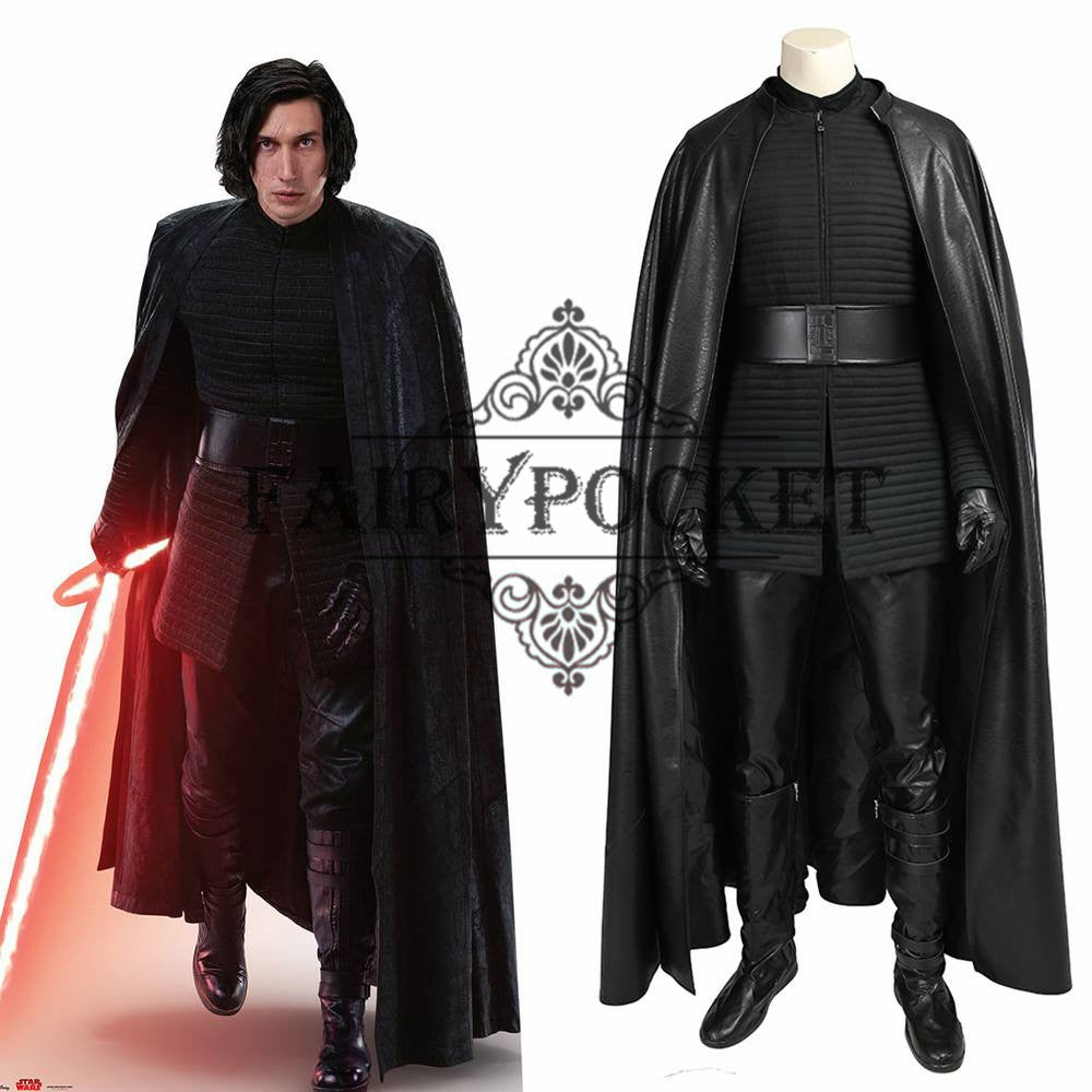 Star Wars The Last Jedi Kylo Ren Cosplay Costume Fairypocket Wigs