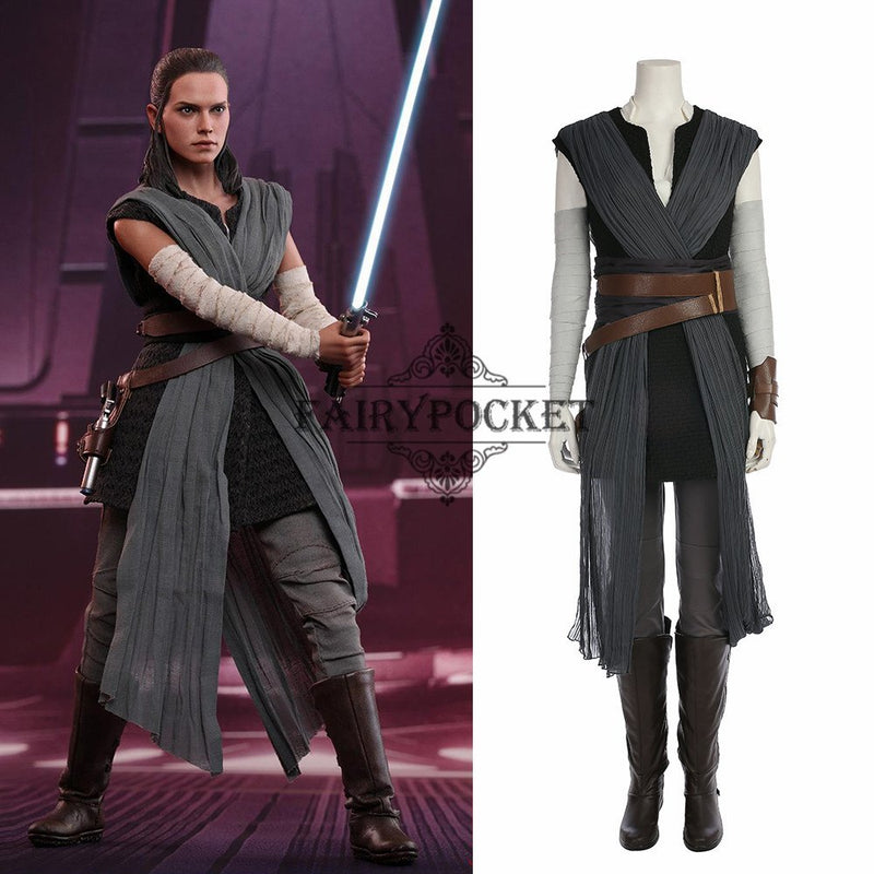 Star Wars: The Last Jedi Rey Cosplay Costume - B