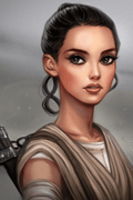 Star Wars Rey Cosplay Wig