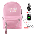 Stranger Things Backpacks with USB Charging Port - BX