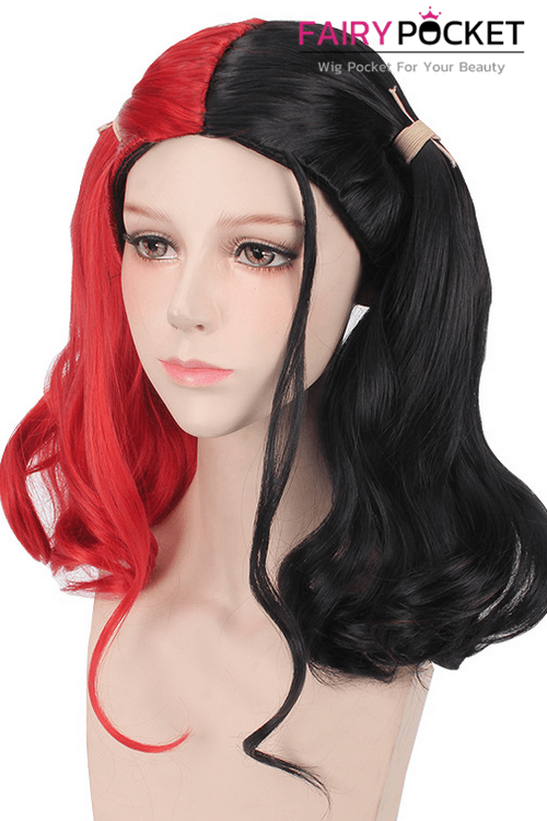 Suicide Squad Harley Quinn Anime Cosplay Wig