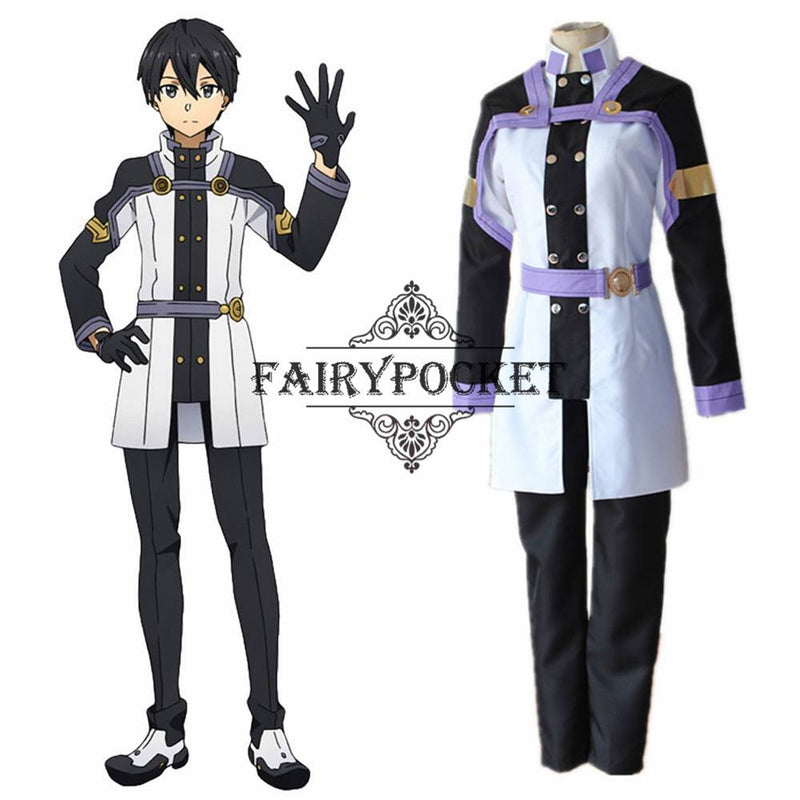 Sword Art Online: Ordinal Scale Kazuto Kirigaya Anime Cosplay Costume