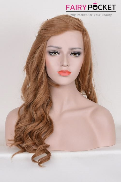 Long Wavy Terra Cotta Basic Cap Wig