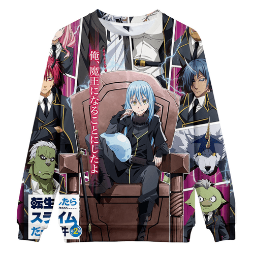 That Time I Got Reincarnated as a Slime Rimuru Tempest Hoodie - S