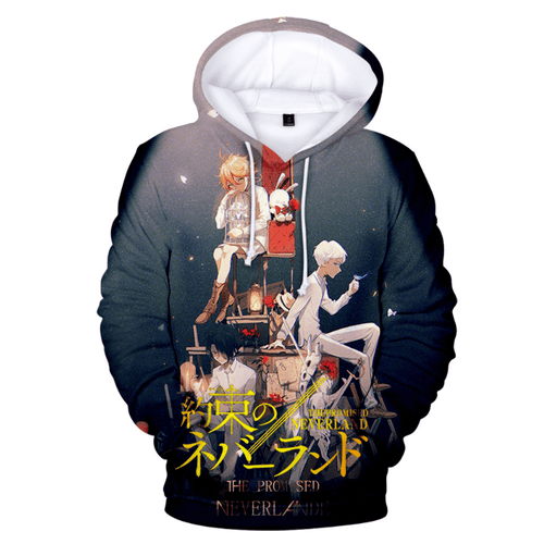 The Promised Neverland Anime Hoodie - J