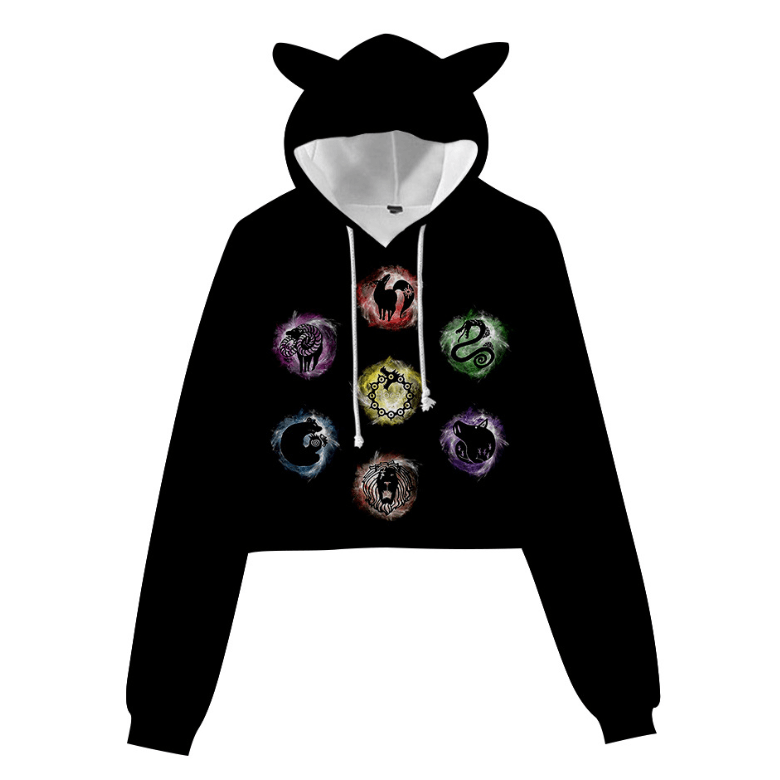 The Seven Deadly Sins Cat Ear Hoodie - D