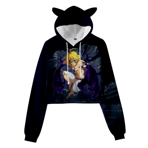 The Seven Deadly Sins Meliodas Cat Ear Hoodie - D