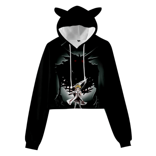 The Seven Deadly Sins Meliodas Cat Ear Hoodie - E