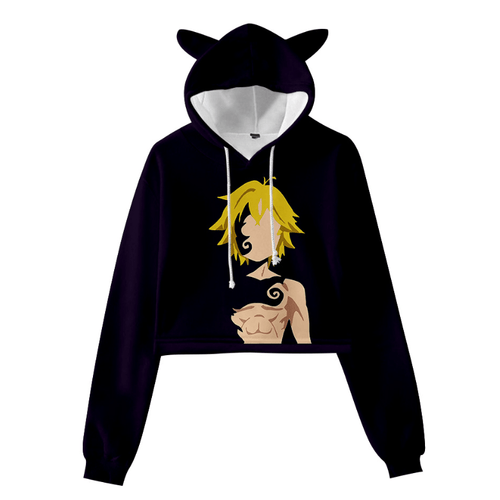 The Seven Deadly Sins Meliodas Cat Ear Hoodie - H