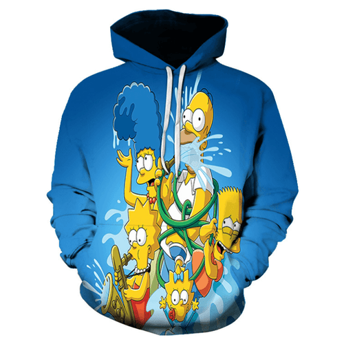 The Simpsons Anime Hoodie - BY