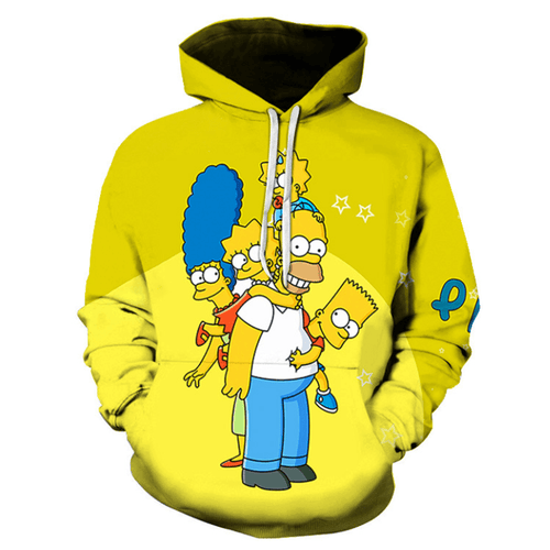 The Simpsons Anime Hoodie - CU