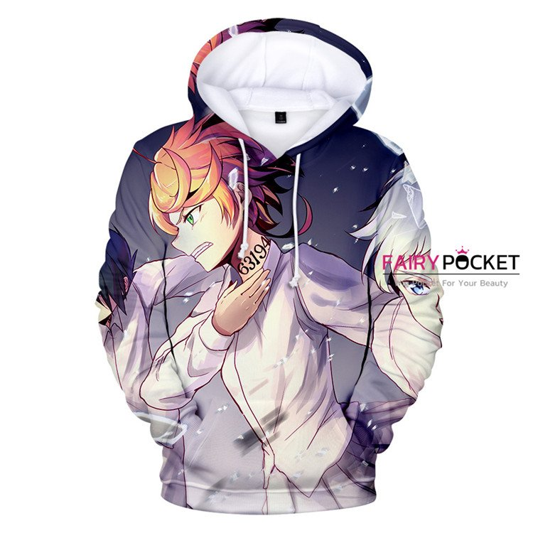The Promised Neverland Emma, Norman & Ray Hoodie - B