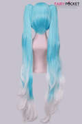 Vocaloid Miku Anime Cosplay Wig - Blue and White