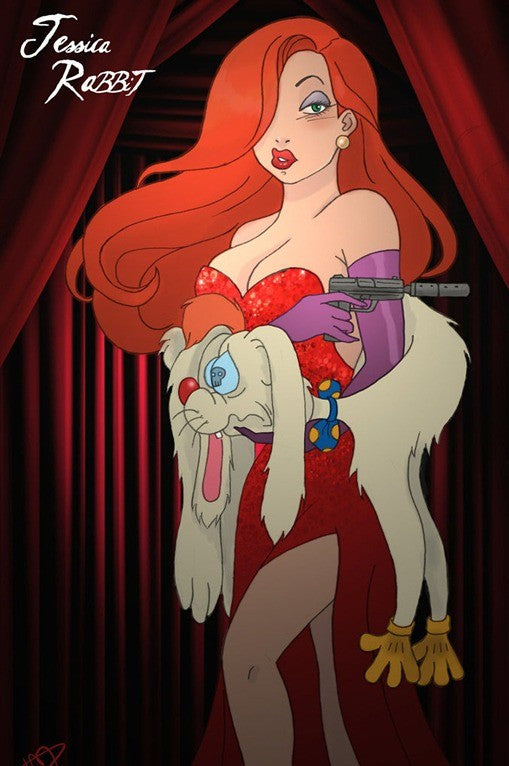 Who Framed Roger Rabbit Jessica Rabbit Anime Cosplay Wig