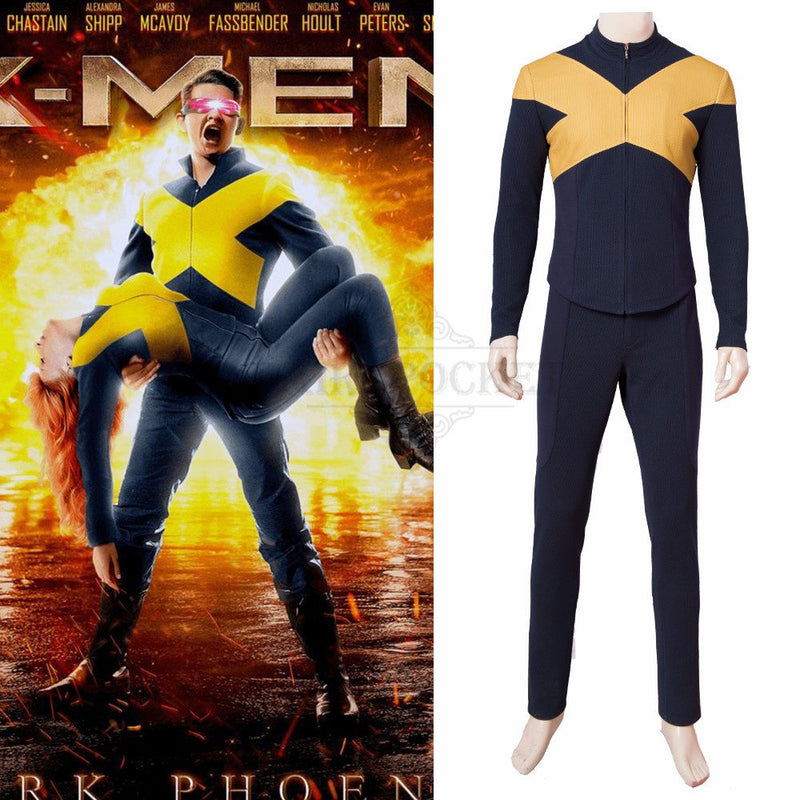 X-Men: Dark Phoenix Scott Summers Cosplay Costume