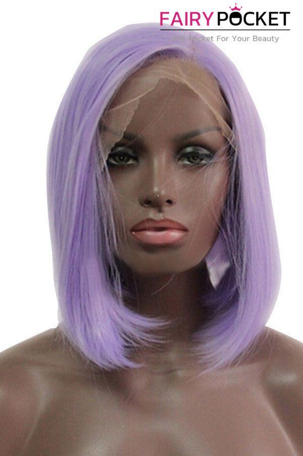 Lavender Purple Short Bob Lace Front Wig
