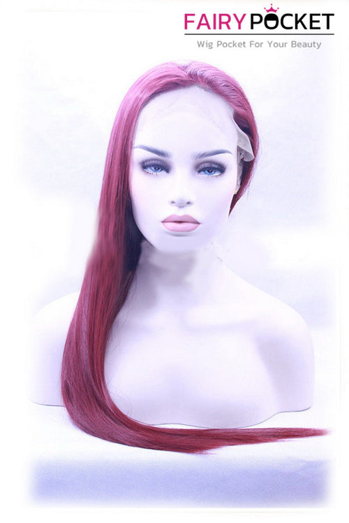 Orchid Purple Long Straight Lace Front Wig