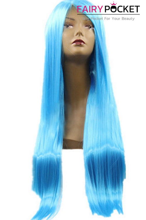 Ocean Blue Long Straight Lace Front Wig
