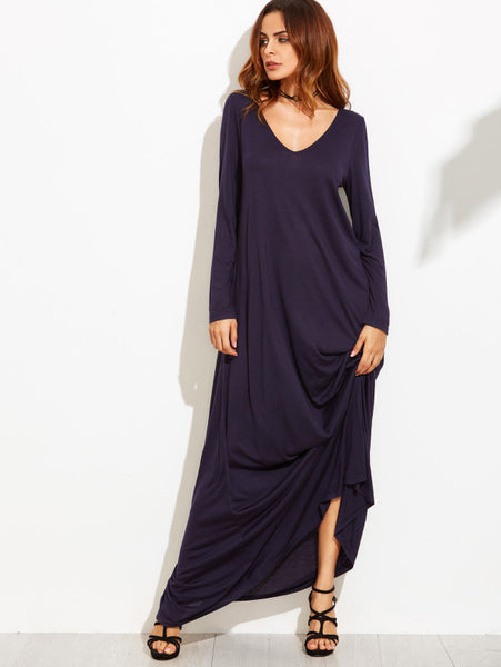 V Neckline Oversized Maxi Dress