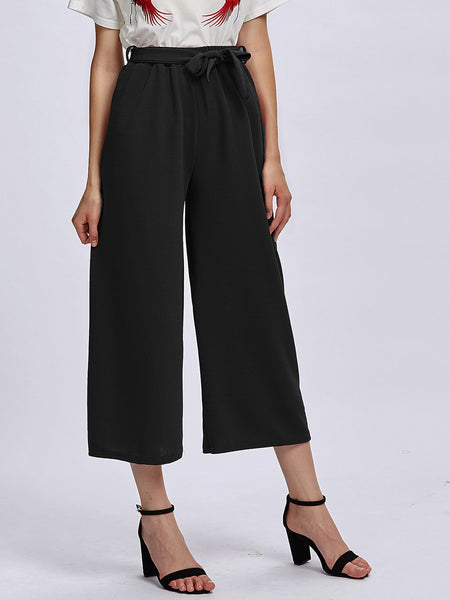 Zere Souq Self Tie Wide Leg Pants