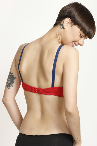 Zivame All Day Comfort 3-4th Coverage Bra- Red