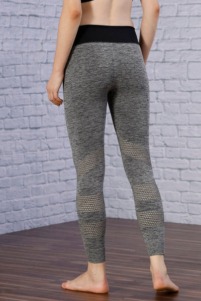Zivame Skin Fit Legging- Grey Melange