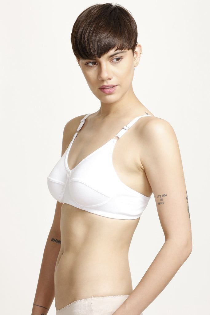 Zivame All Day Comfort 3-4th Coverage Contour Cup Bra- White