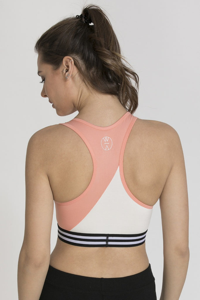 Zivame Medium Impact Sports Bra - Peach