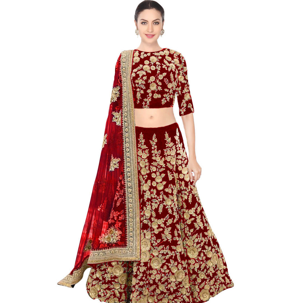Red Wedding Designer/Bridal Lehenga