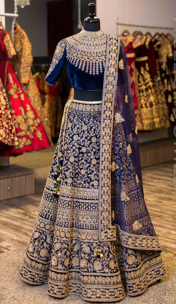 Navy Wedding Designer/Bridal Lehenga