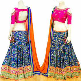 Royal Blue Designer Lehenga