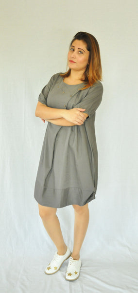 Grey Short Daniella Dress/Tunic