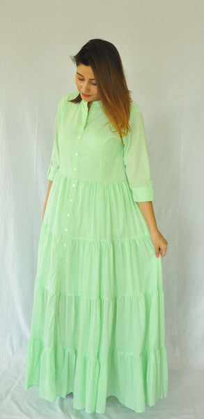 Lime Green Women's Summer Maxi Dress