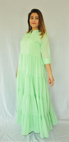 Lime Green Summer Maxi Dress