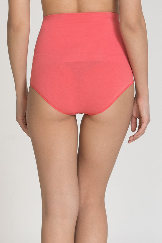 Zivame Low Impact Highwaist Seamless Hipster Panty- Coral