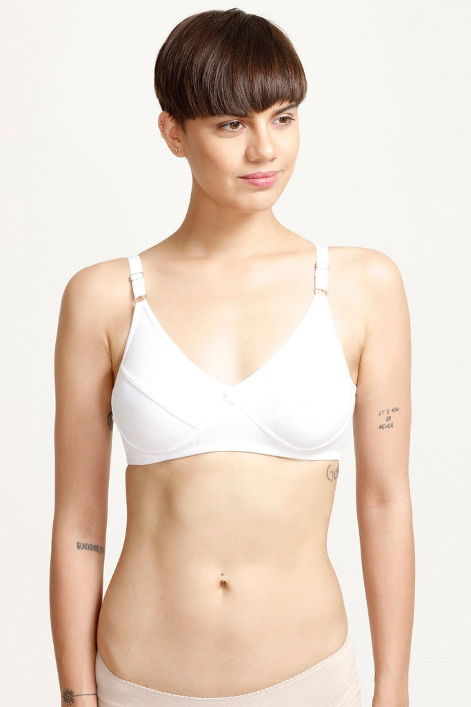Rosaline All Day Comfort Full Coverage Contour Cup Bra - White
