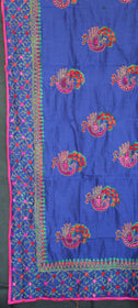 Blue Embroidered Dupatta