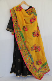 Yellow Embroidered Dupatta
