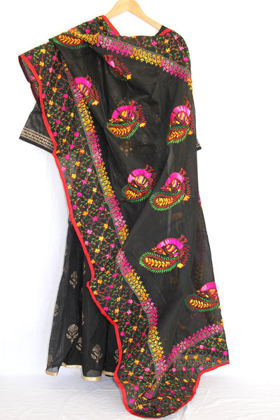 Black Embroidered Dupatta