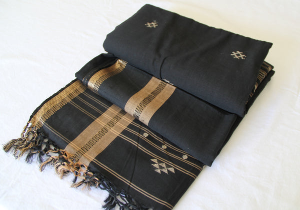 Black Kotpad Handwoven Saree