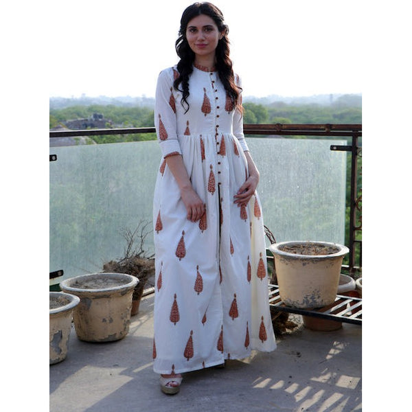 White  Burnt Leaf Cape Palazzo Set