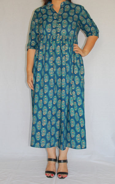 Peacock Teal Dress